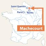 Localisation de Machecourt